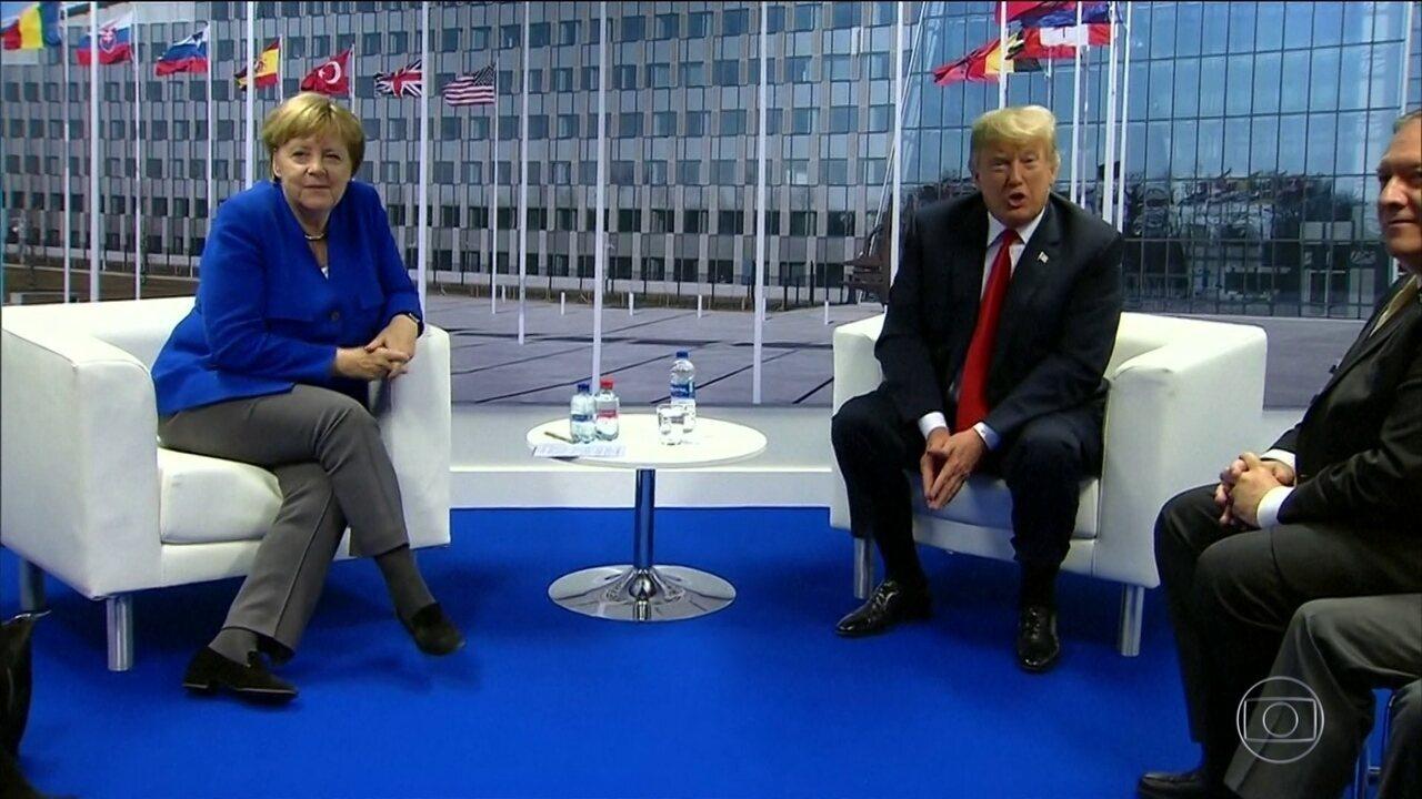 Trump critica Alemanha e países europeus em cúpula da Otan