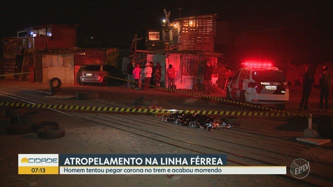 Homem morre atropelado por trem em Sumaré