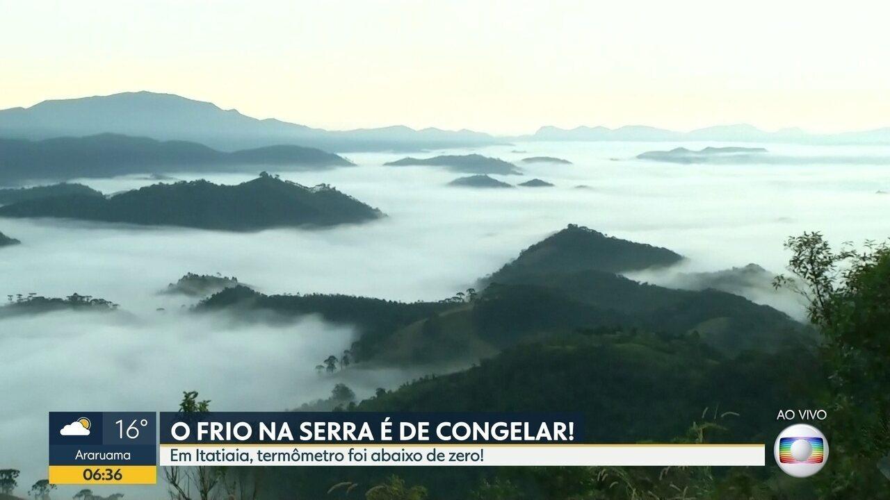Itatiaia registrou temperatura abaixo de zero