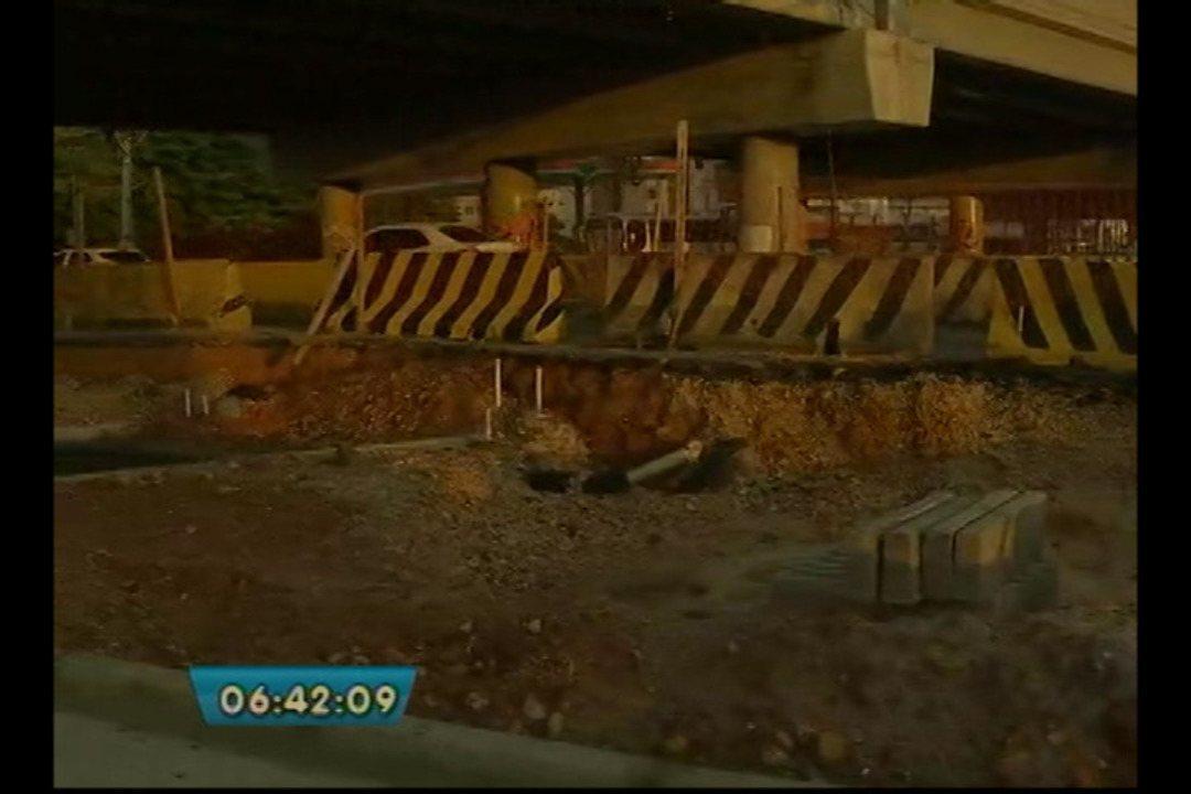 Rebaixamento das pistas do elevado da Augusto Montenegro entra na etapa final