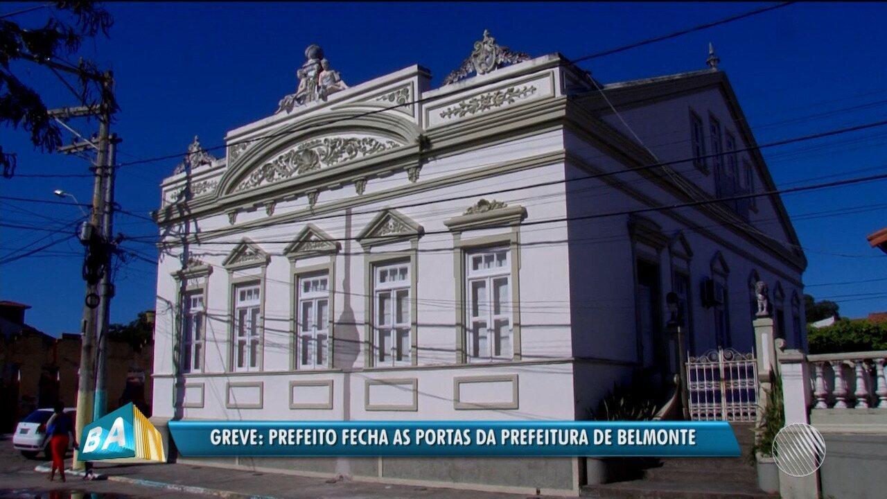 Prefeito do município de Belmonte entra em greve e manda fechar as portas da prefeitura