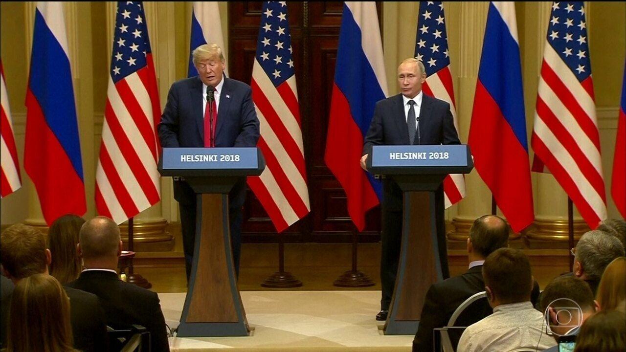 Encontro entre Trump e Putin repercute mal nos Estados Unidos