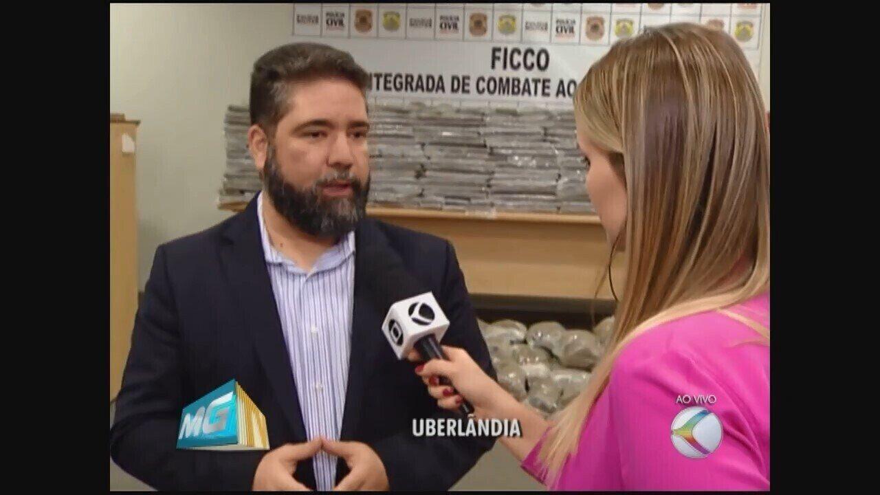 Força Integrada de Combate ao Crime aprende mais de 700 Kg de drogas em Uberlândia