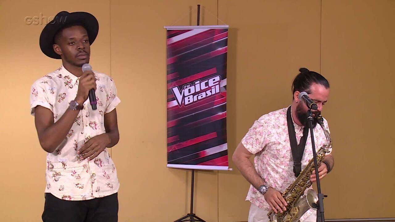 Kevin Ndjana participa da seletiva do The Voice Brasil