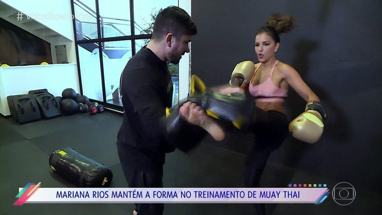 Mariana Rios mostra sua rotina fit
