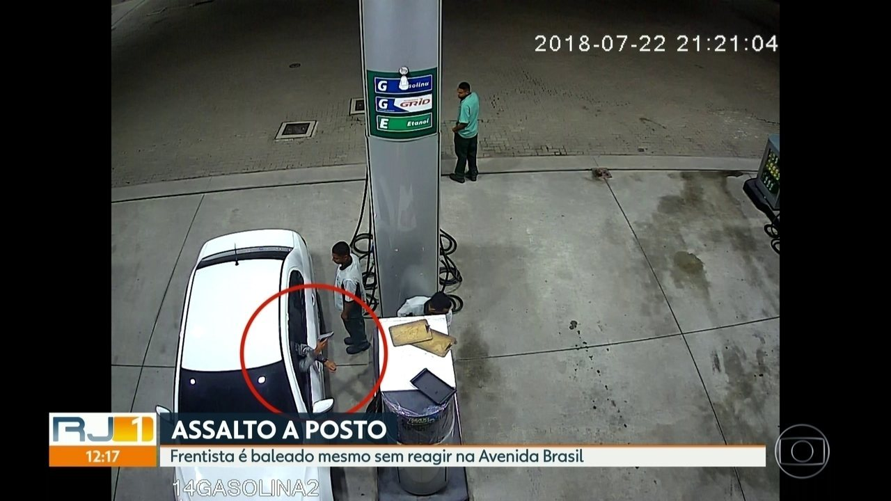 Frentista é baleado em assalto a posto na Avenida Brasil