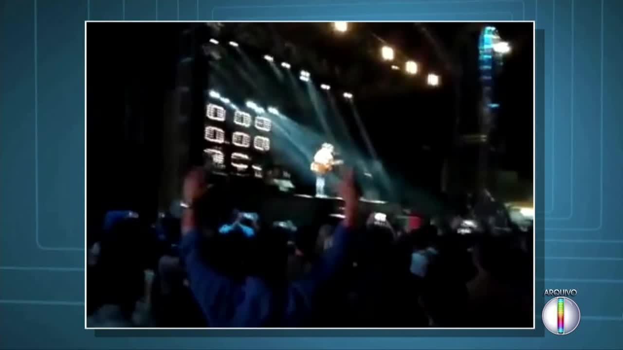 Vídeo mostra confusão durante show do vocalista do Jota Quest em Campos, no RJ
