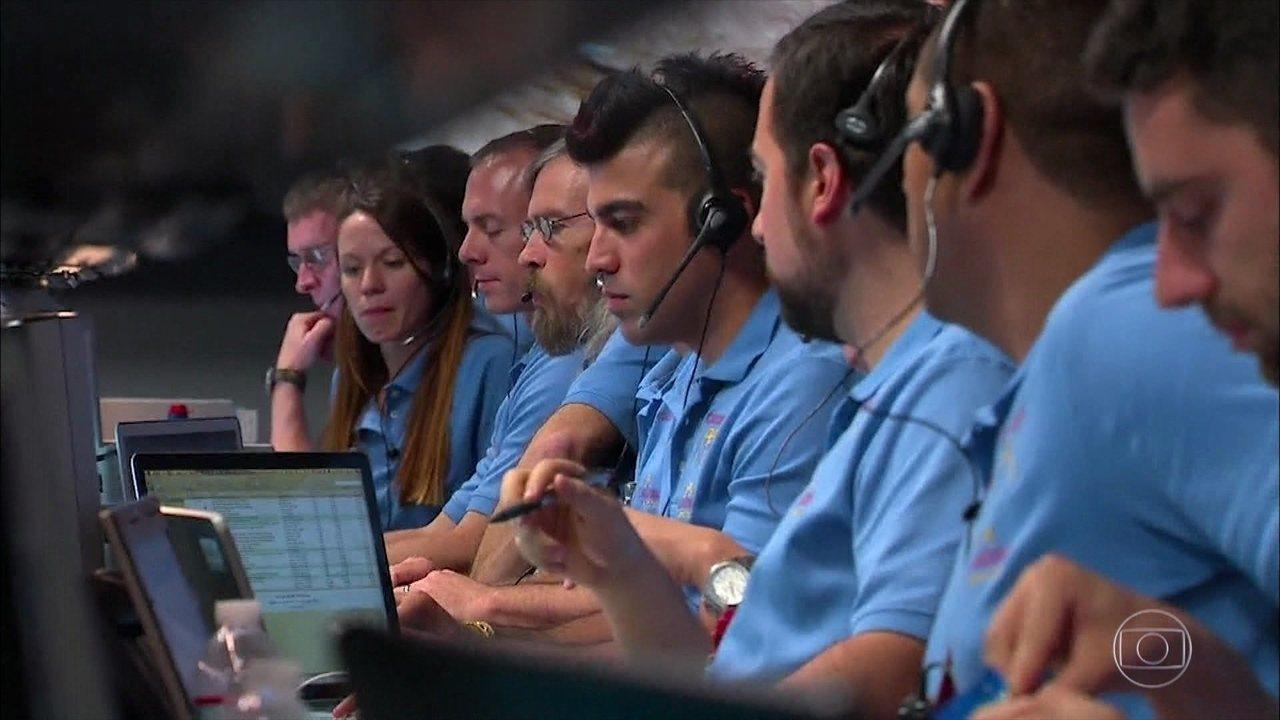 Confira a reação da NASA quando o Curiosity pousou em Marte