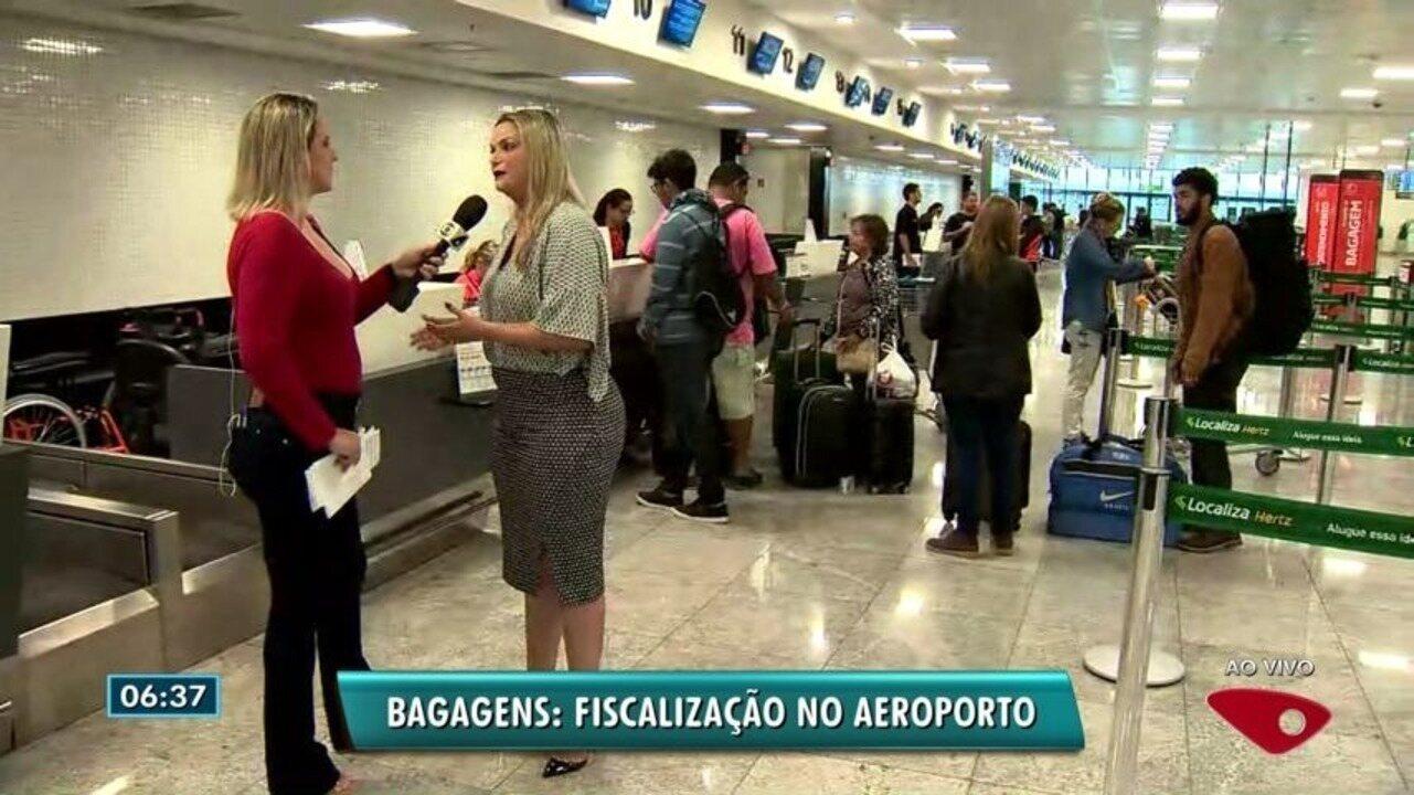 Procon fiscaliza cobrança de bagagens de mão no Aeroporto de Vitória