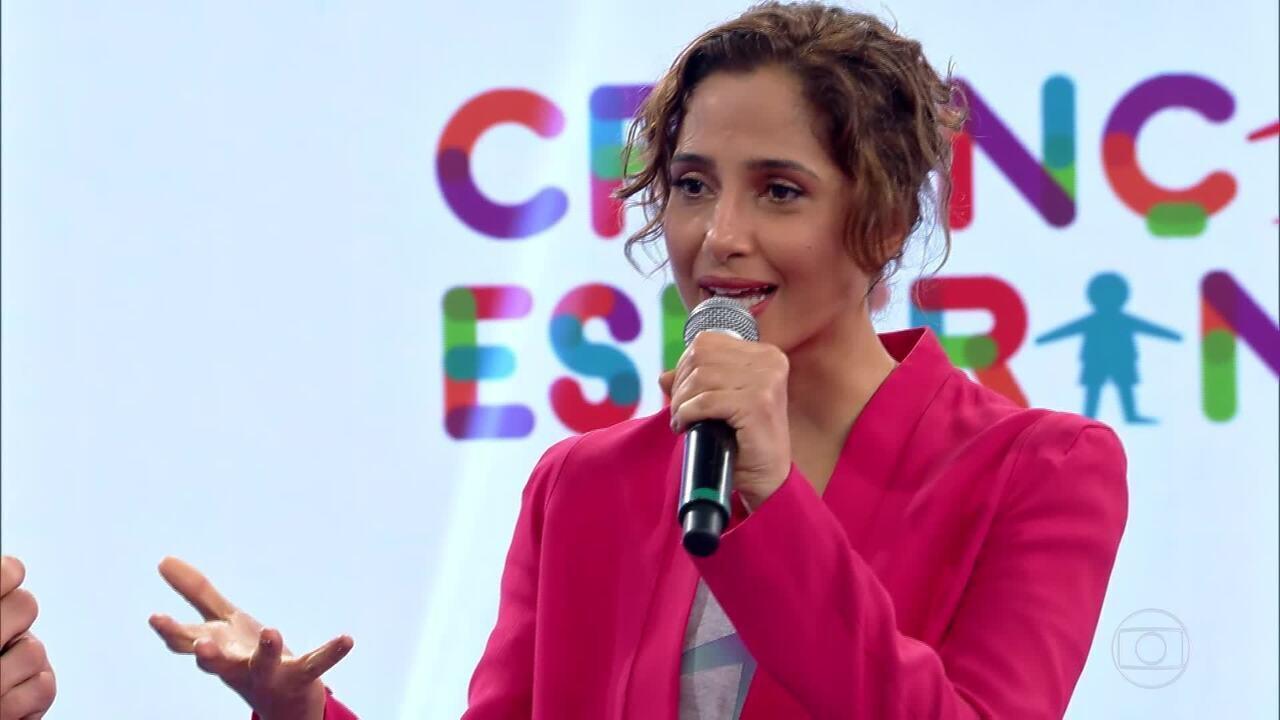 Camila Pitanga anuncia que EDISCA será apoiada pelo Criança Esperança