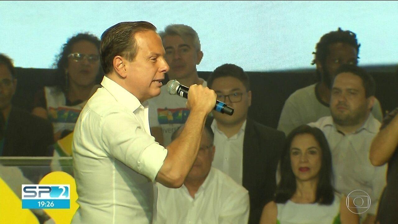 PSDB oficializa o nome de João Doria ao governo de São Paulo