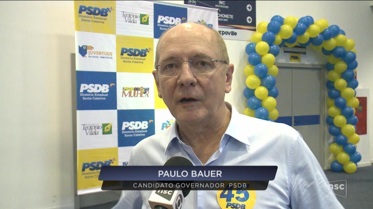 PSDB lança candidatura de Paulo Bauer ao governo de SC