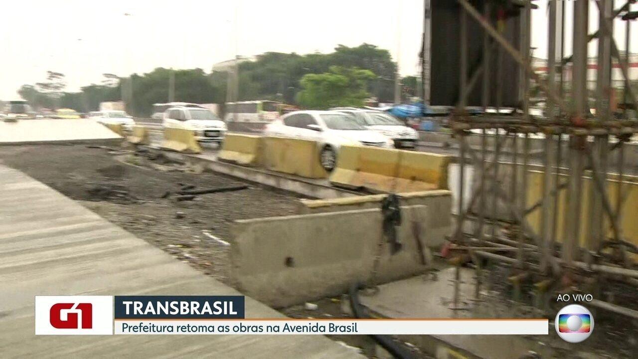 Crivella anuncia retomada das obras da Transbrasil