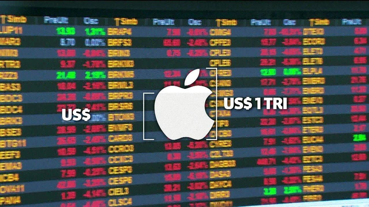Apple atinge marca de US$ 1 trilhão em valor de mercado