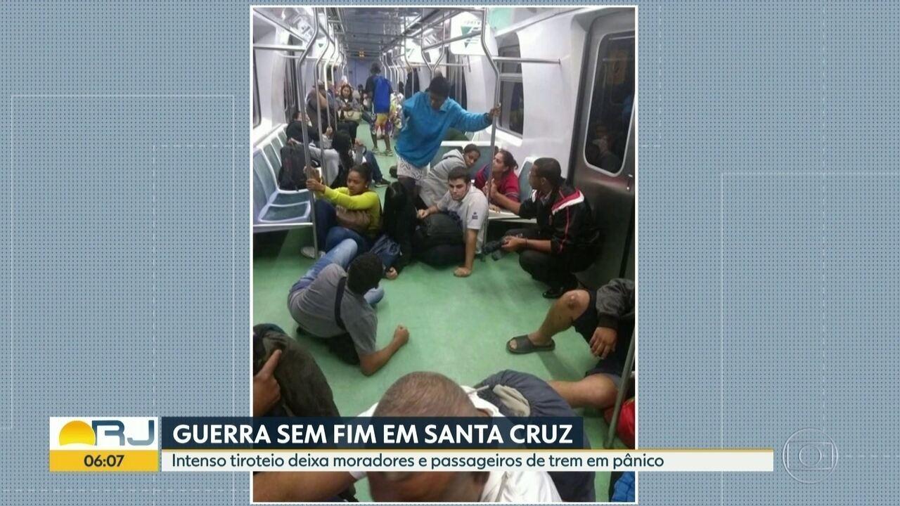Tiroteio deixa passageiros de trem e moradores de Santa Cruz em pânico