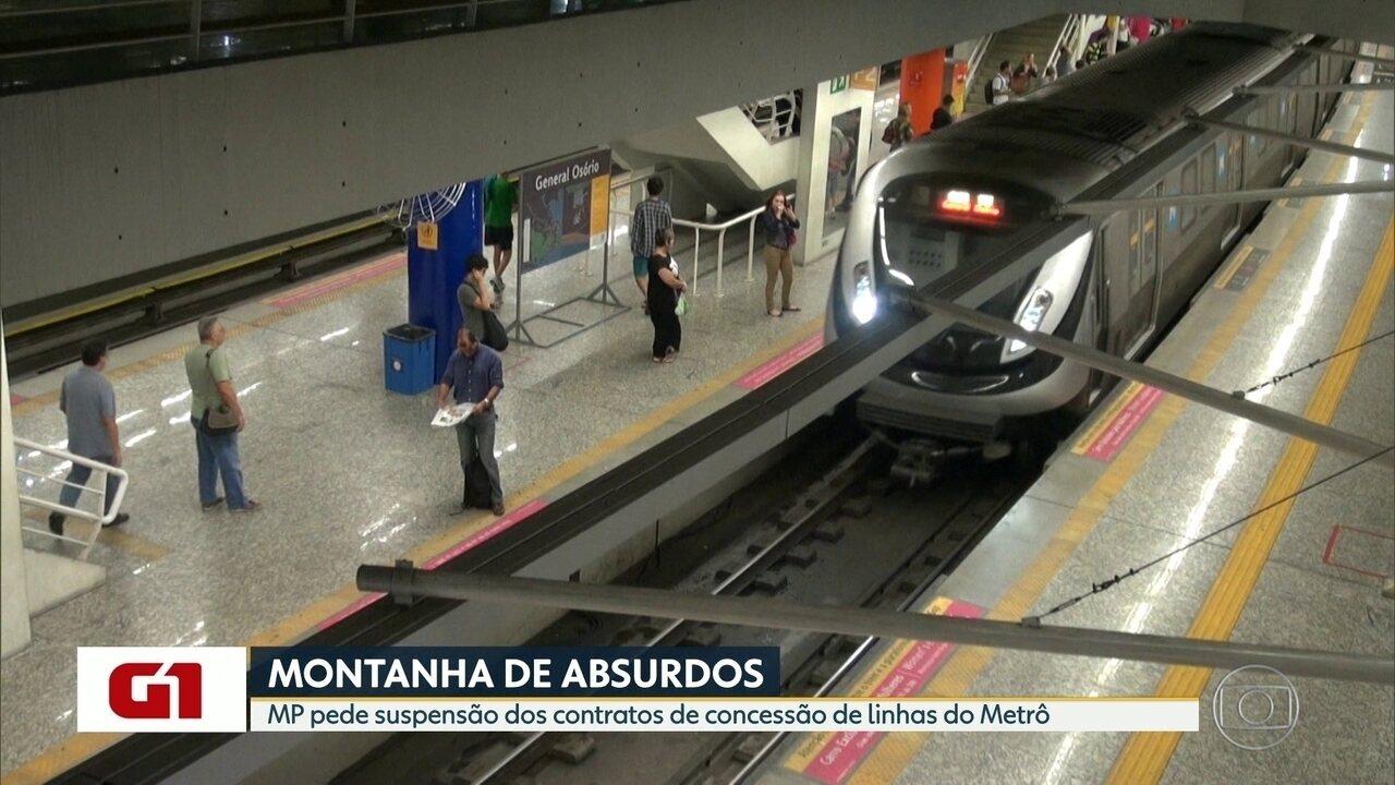 MP pede suspensão dos contratos de concessão de linhas do metrô