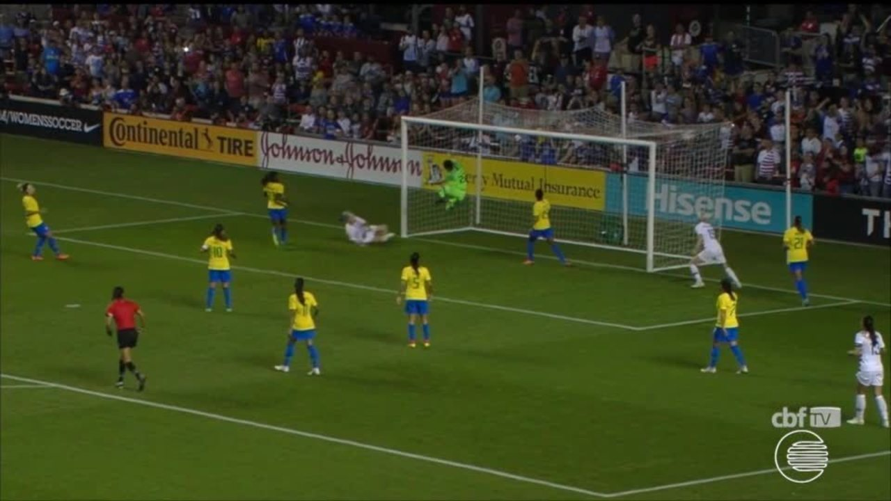 Seleção Brasileira é goleada com jogadora piauiense em campo no Torneio das Nações
