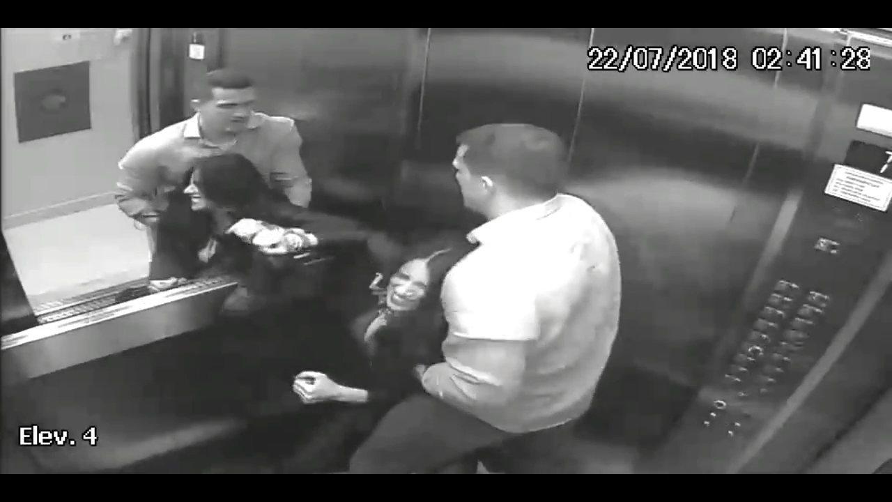 Imagens mostram agressões de marido a advogada que caiu do 4º andar de prédio