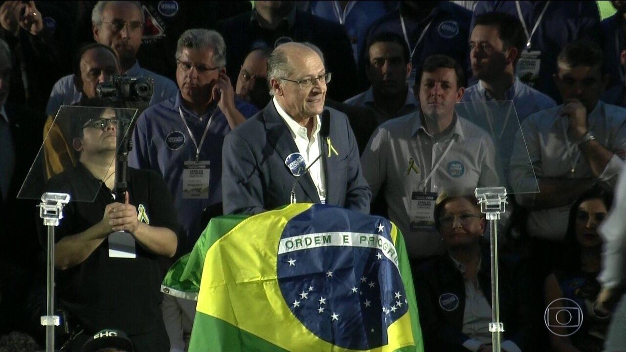 PSDB oficializa candidatura de Geraldo Alckmin à Presidência da República