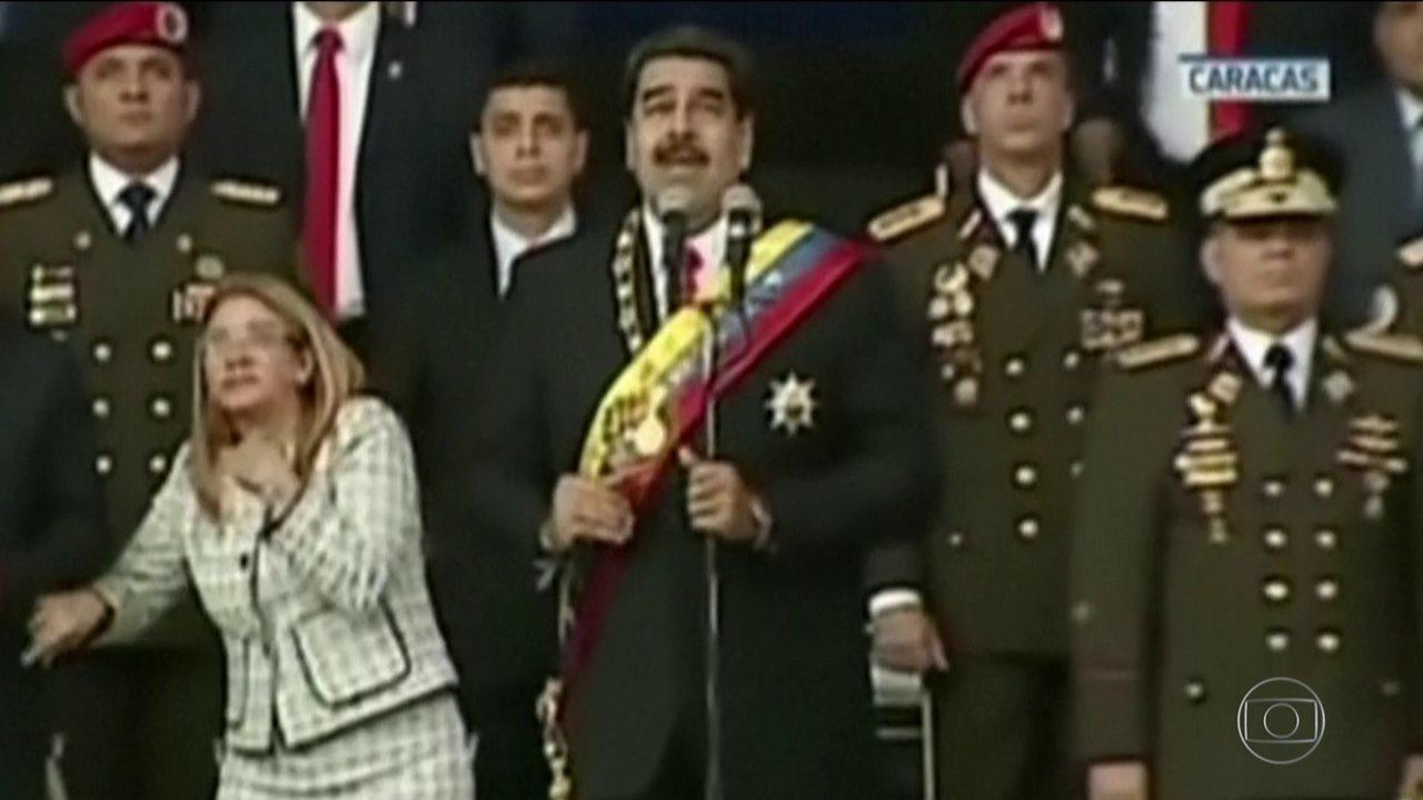 Governo da Venezuela diz que o presidente Nicolás Maduro escapou de um atentado
