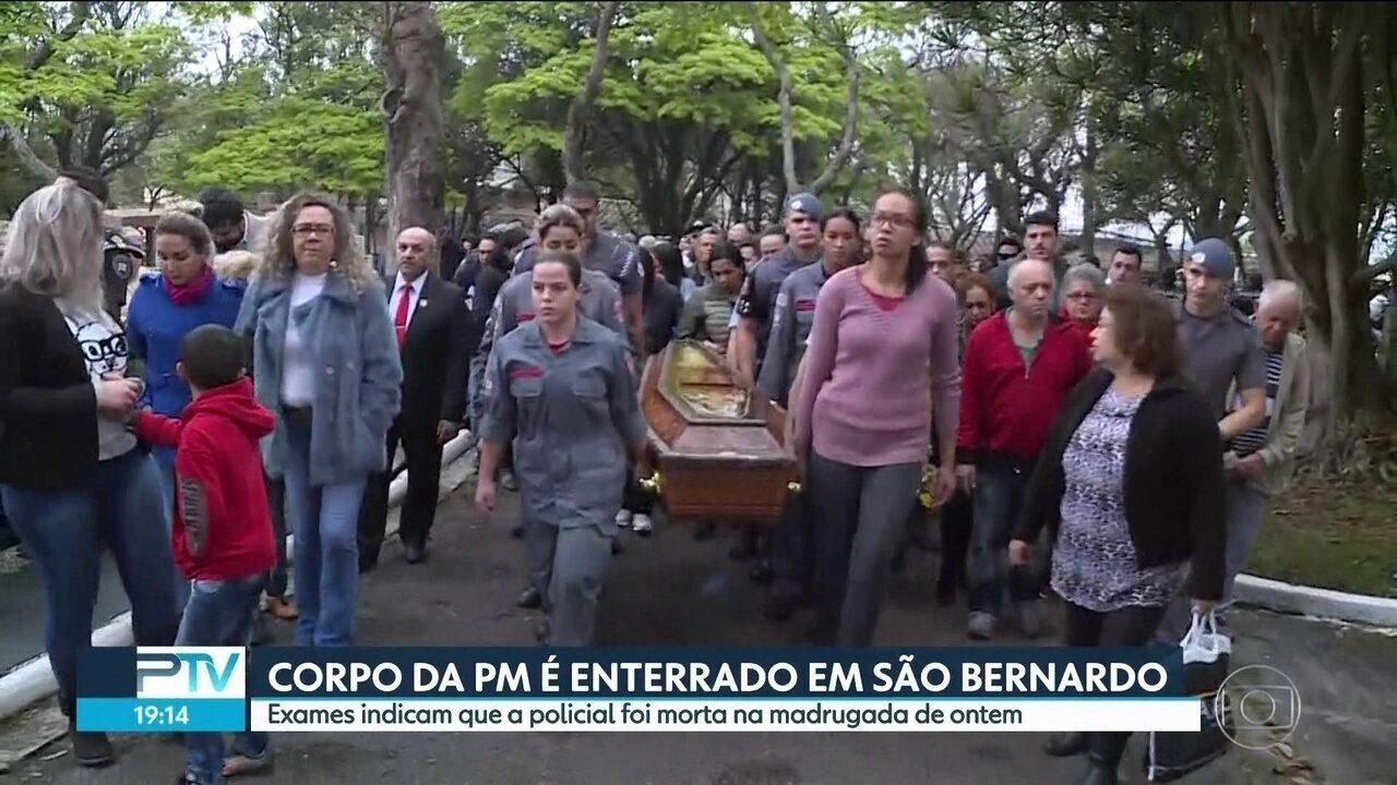 Corpo de PM sequestrada em Paraisópolis é enterrado em São Bernardo