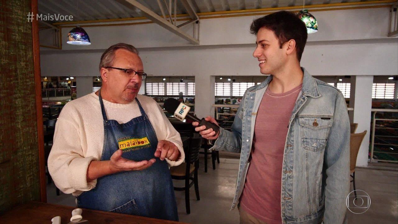 O 'Mais Você' visita o Mercadão de Curitiba e aprende a fazer Carne de Onça