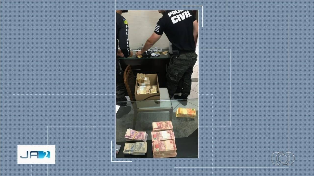 Polícia apreende mais de R$ 500 mil em Goiás e Mato Grosso do Sul