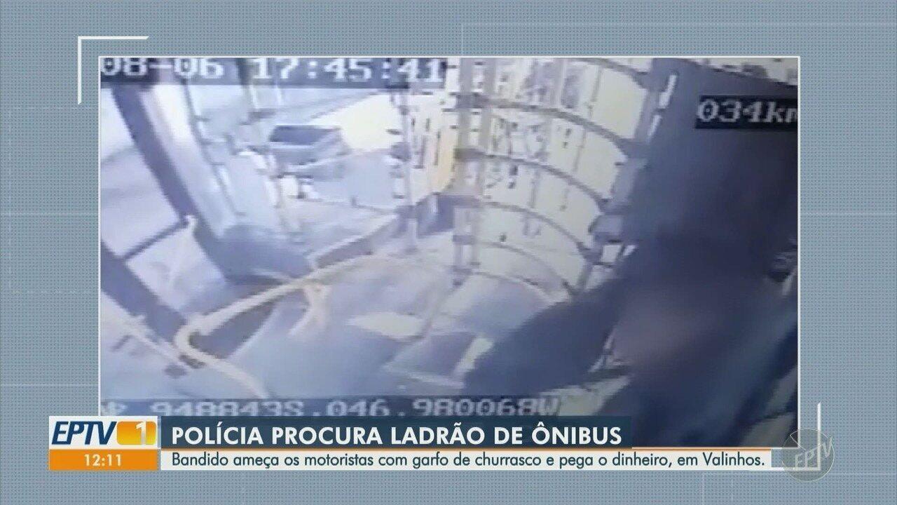 Polícia procura homem suspeito por pelo menos quatro assaltos a ônibus em Valinhos