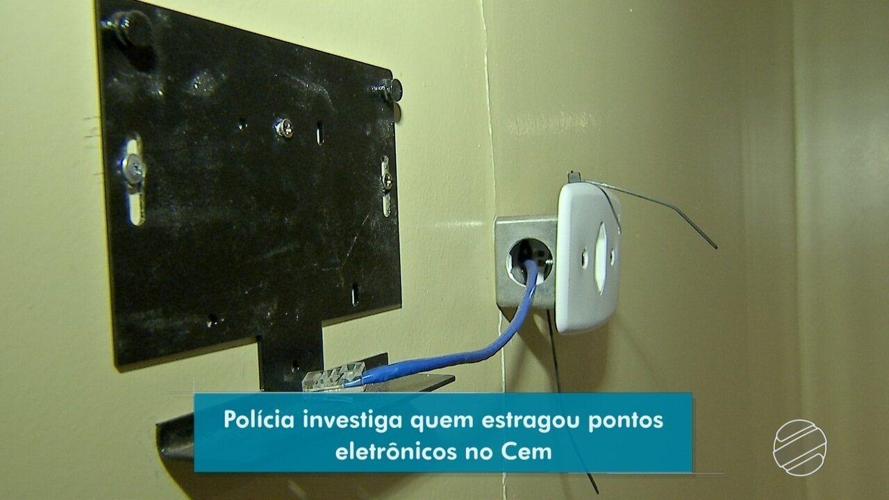Polícia investiga quem estragou pontos eletrônicos no CEM