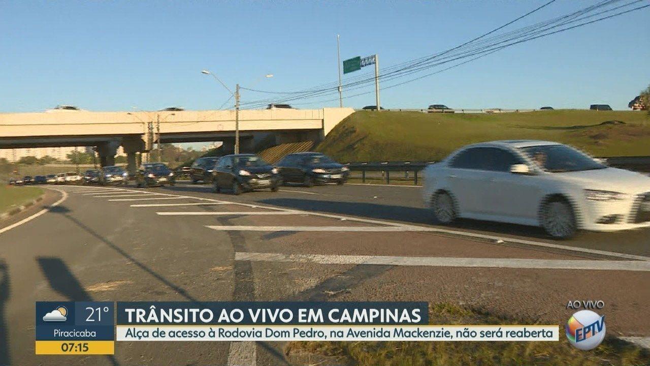 Fechamento de alça de acesso da Rodovia Dom Pedro I em Campinas é definitivo