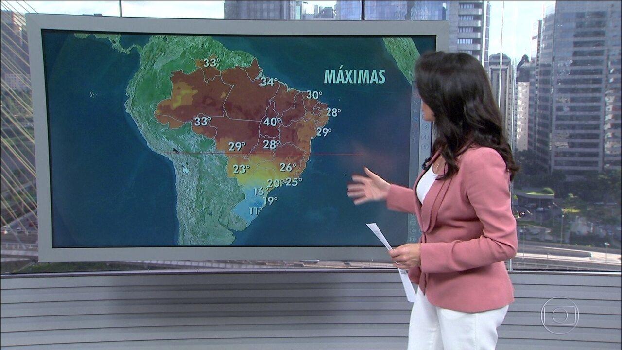 Frio aumenta no Sul, em parte do Sudeste e Centro-Oeste e até no Acre