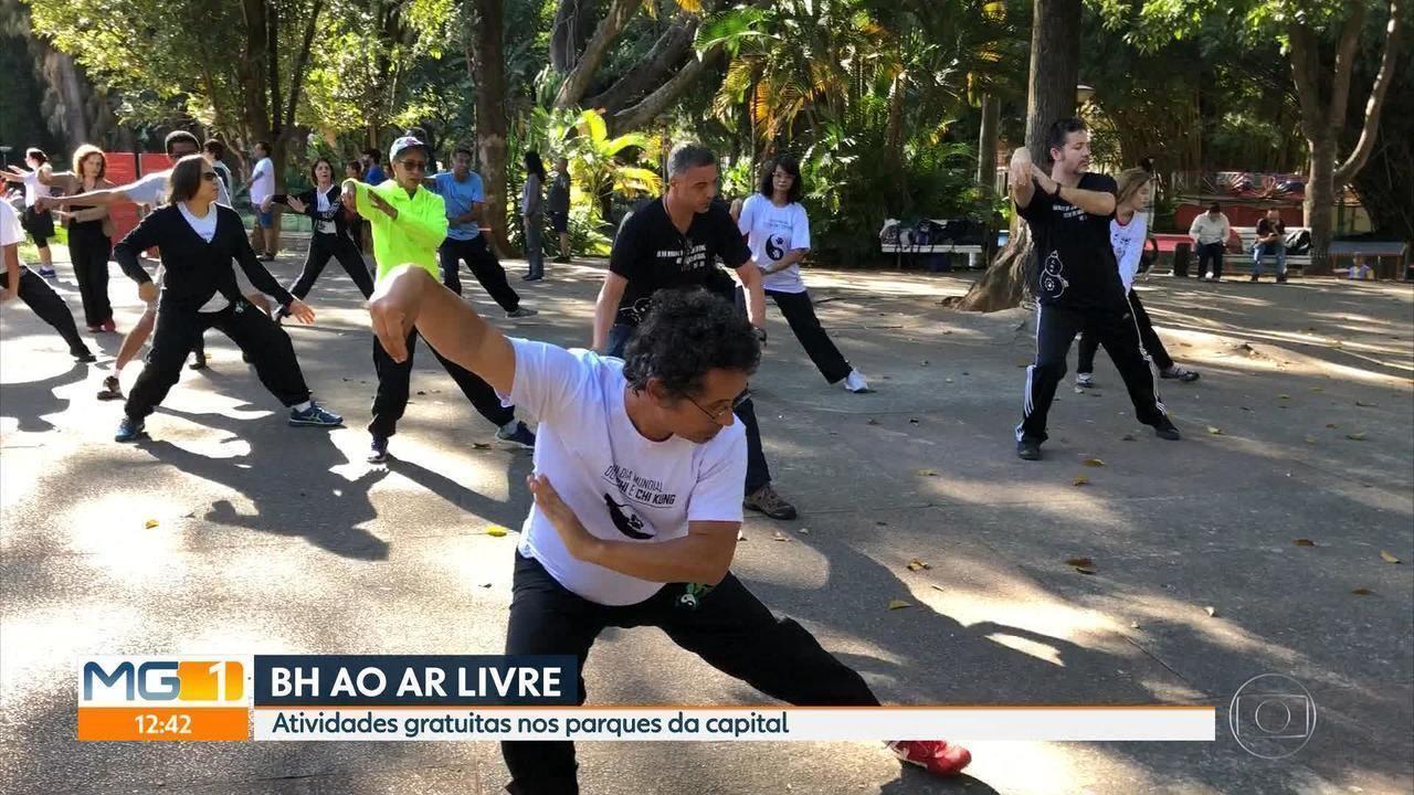 Parques de Belo Horizonte recebem aulas de várias modalidades no fim de semana