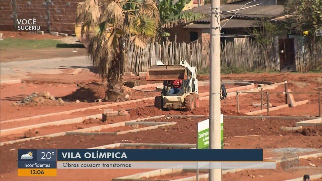 Moradores reclamam de obras de Vila Olímpica, em Itajubá (MG)