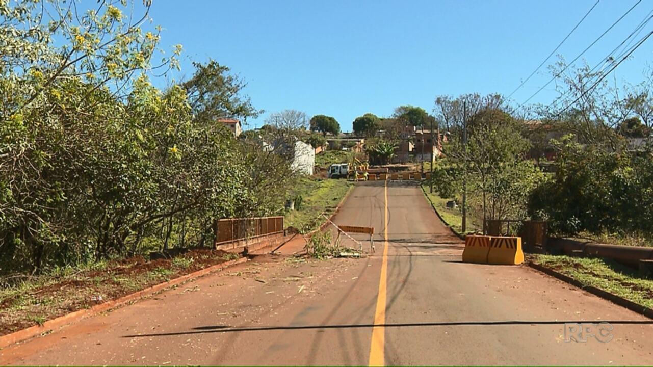 Ponte na zona sul de Londrina é interditada pela prefeitura