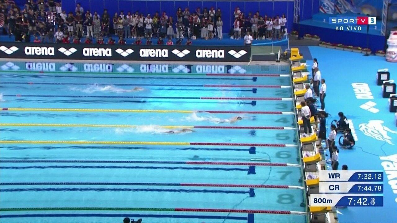 Guilherme Costa fica em quarto lugar na prova dos 800 m livres masculino no Pan Pacifico