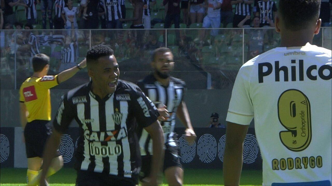 Gol do Atlético-MG! Tomás rola para Elias que acerta belo chute com 7´ do 1º tempo