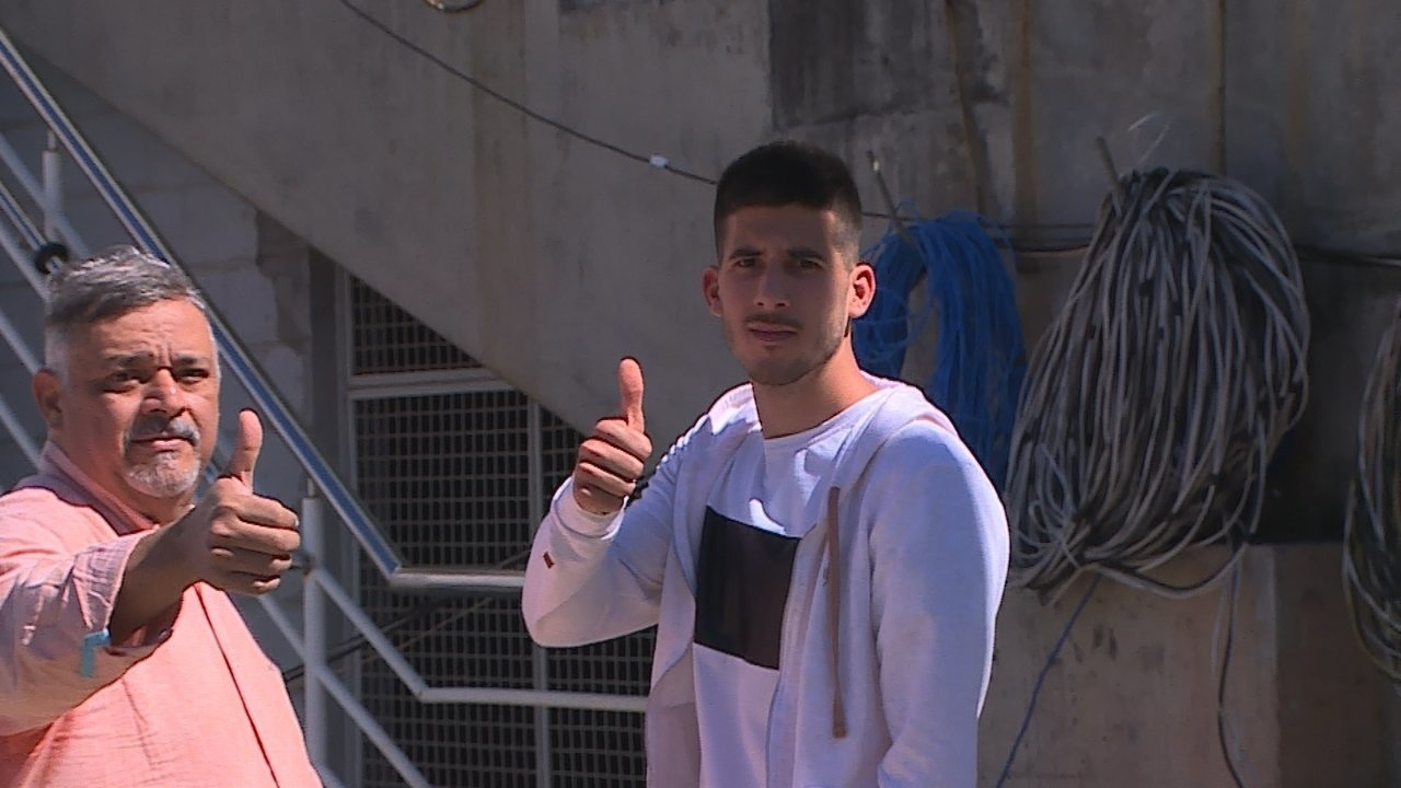 Martín Rea, novo zagueiro do Atlético-MG, conhece o estádio Independência