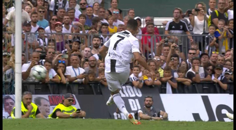 CR7 fez o primeiro gol pela Juventus, em amistoso neste domingo; assista