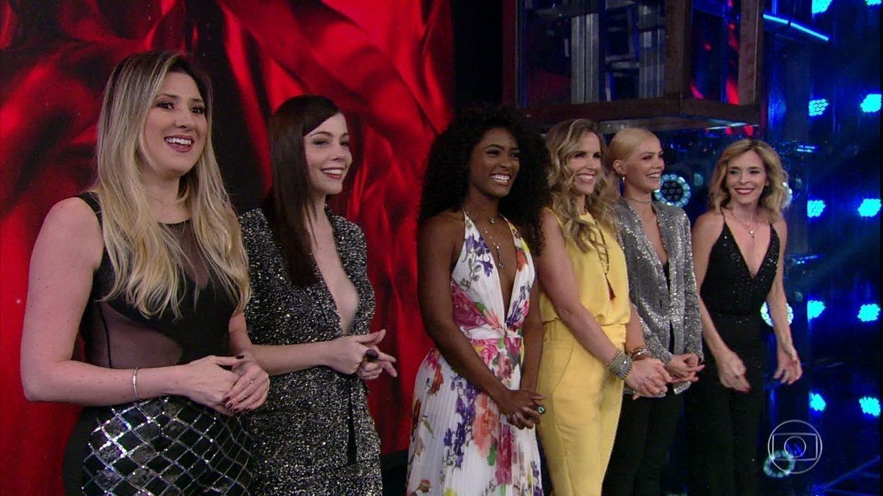 Faustão anuncia time feminino do 'Dança dos Famosos 2018'
