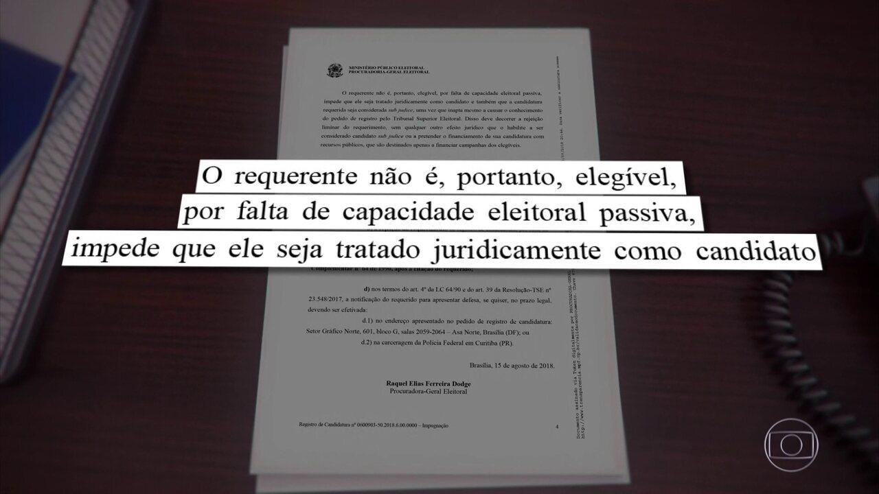 Procuradora-geral da República entra com ação de impugnação contra candidatura de Lula