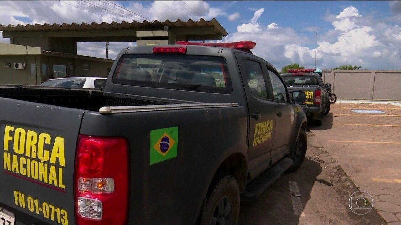 Após conflitos em Pacaraima, homens da Força Nacional chegam a Boa Vista