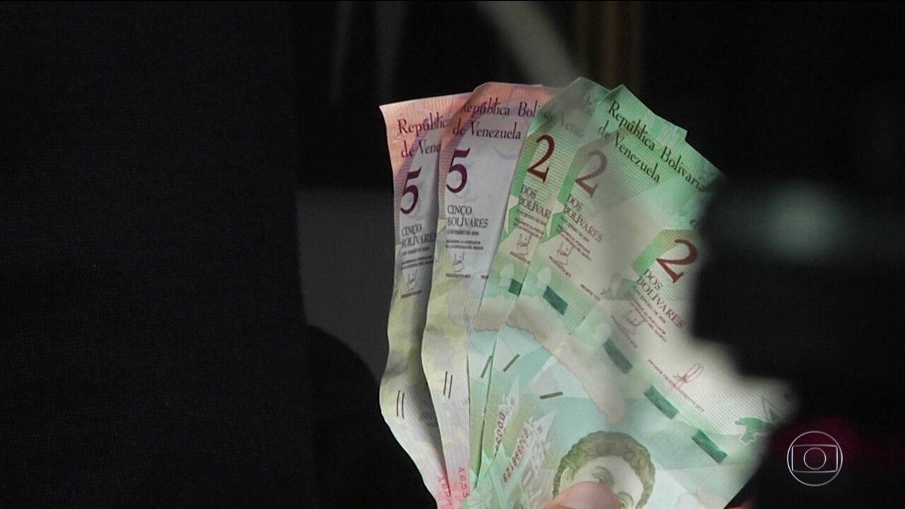 Venezuela tem nova moeda com cinco zeros a menos, o bolívar soberano