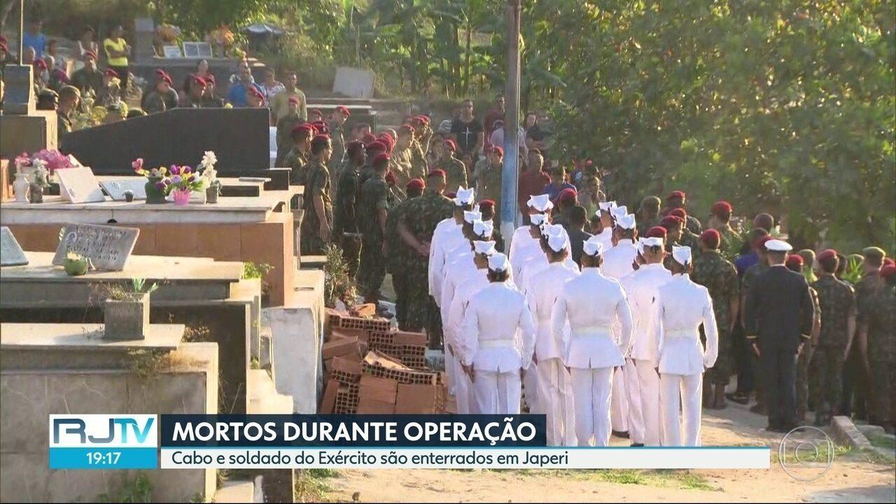 Cabo e soldado do Exército mortos em operação da Intervenção são enterrados