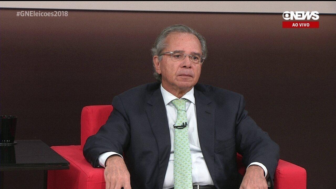 Central das Eleições da GloboNews entrevista Paulo Guedes, assessor econômico do PSL