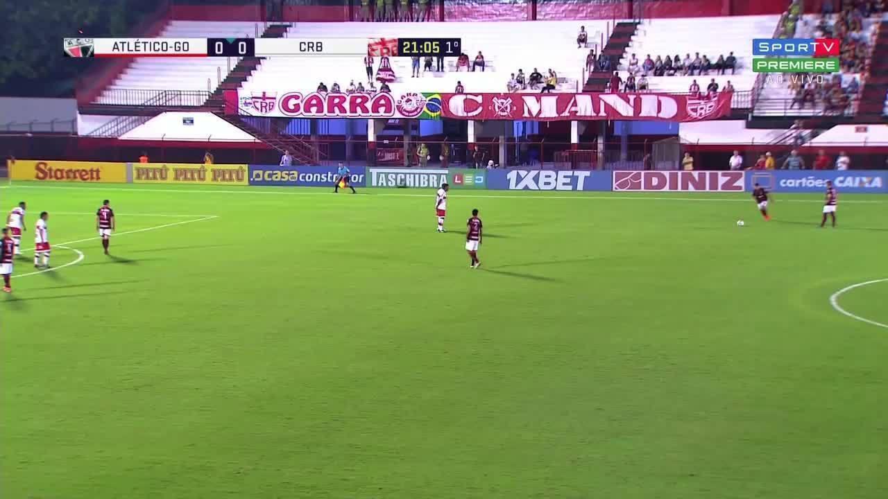 Faltou sorte ao CRB na partida contra o Atlético-GO