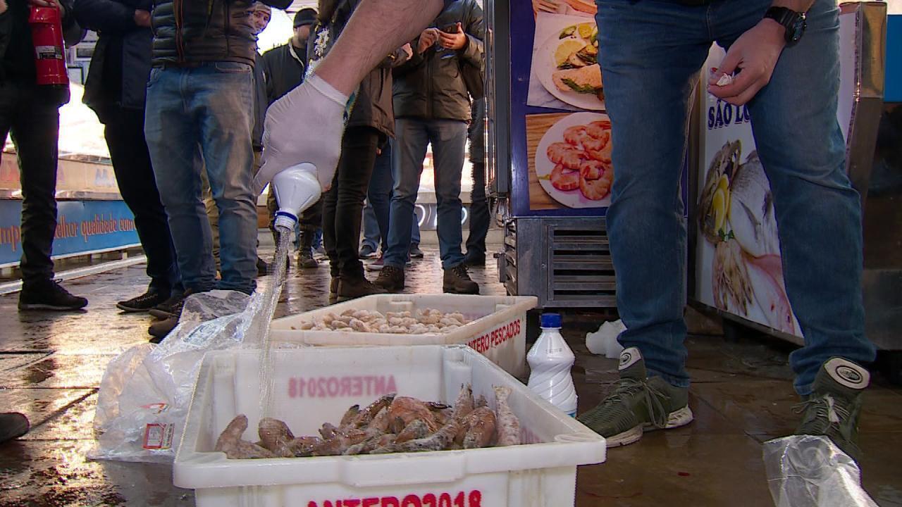 7e19ac1a9 Força-tarefa apreendeu mais de meia tonelada de pescados na capital do  estado do RS