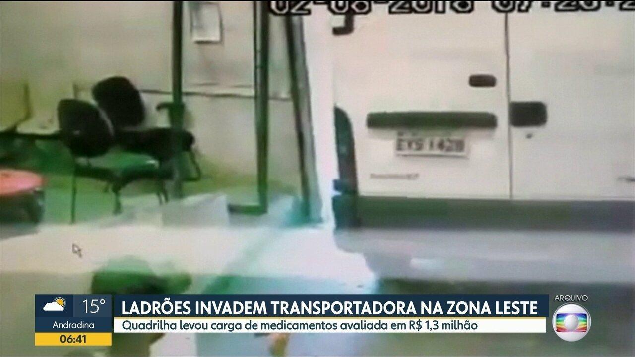 Quadrilha furtou carga de medicamentos avaliada em R$ 1,3 milhão