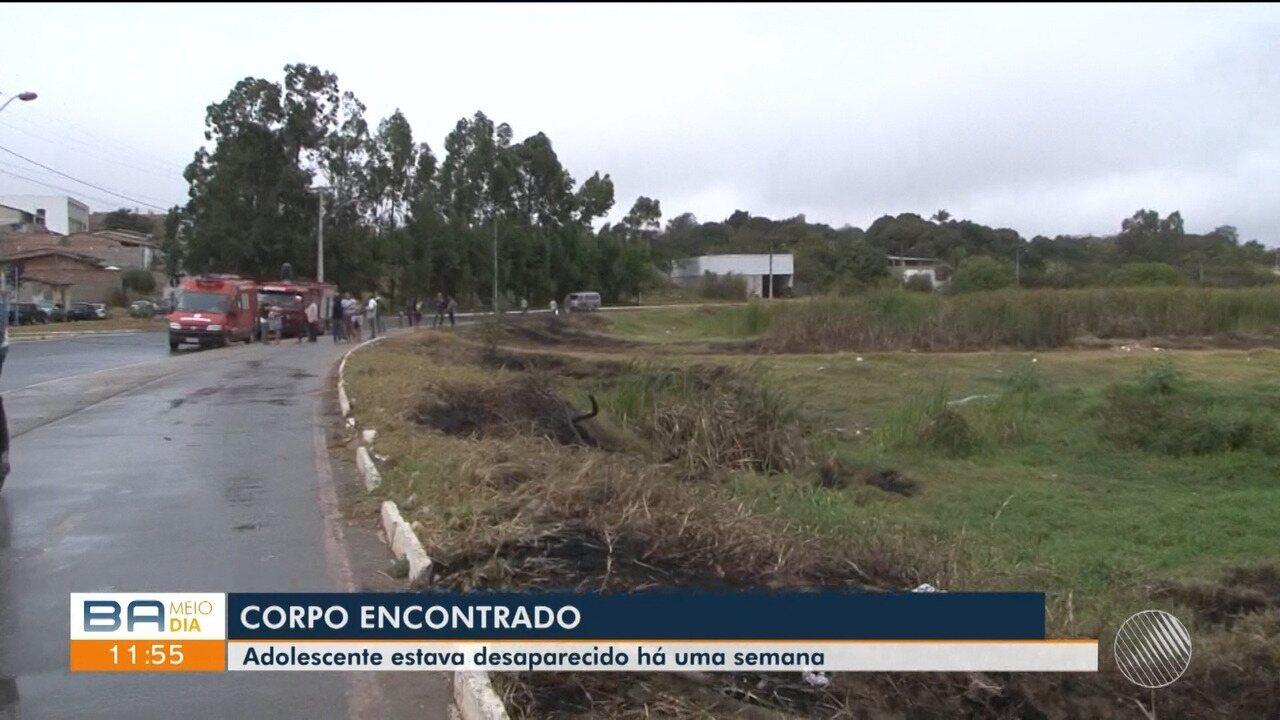 Polícia encontra corpo do adolescente desaparecido há uma semana em Vitória da Conqusita