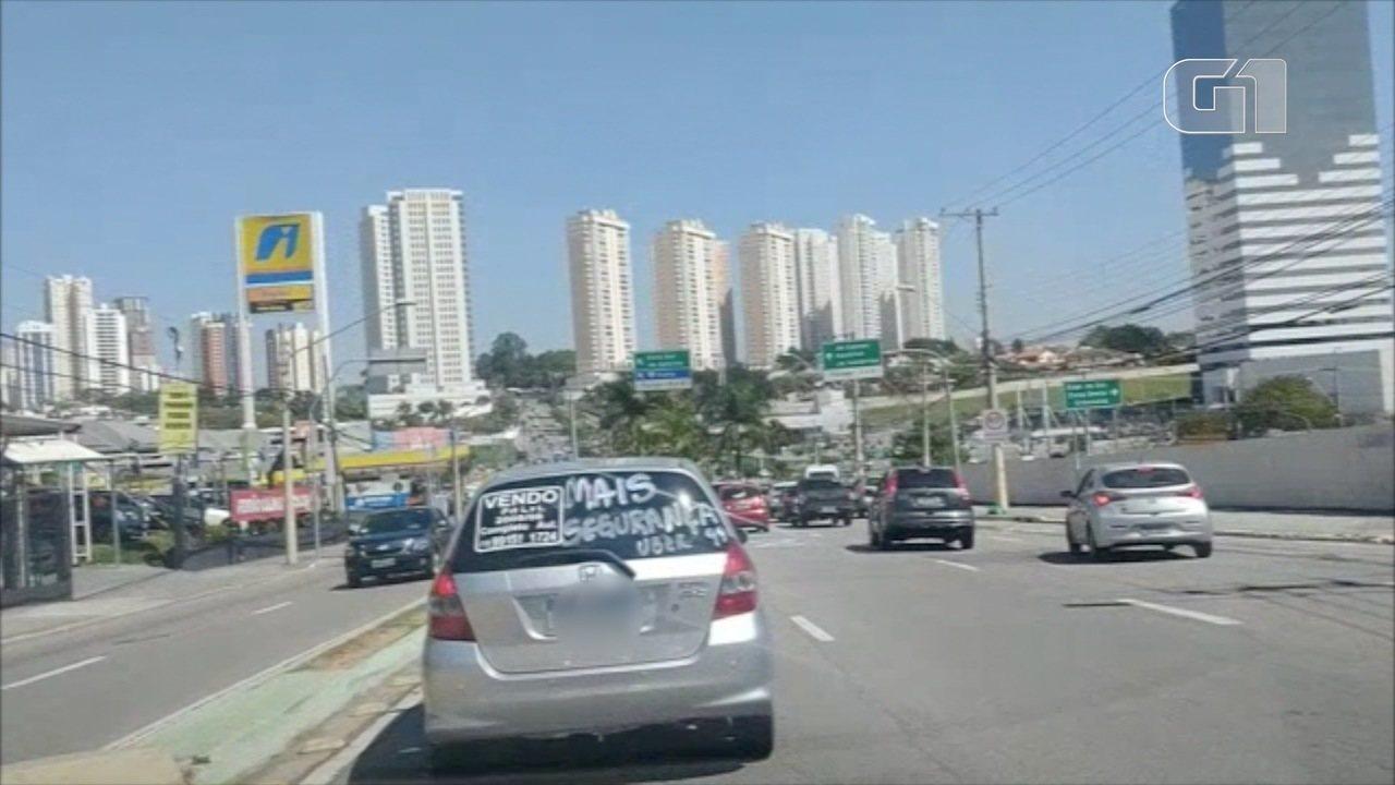 Ato de motoristas de app cobra segurança na operação do serviço em São José
