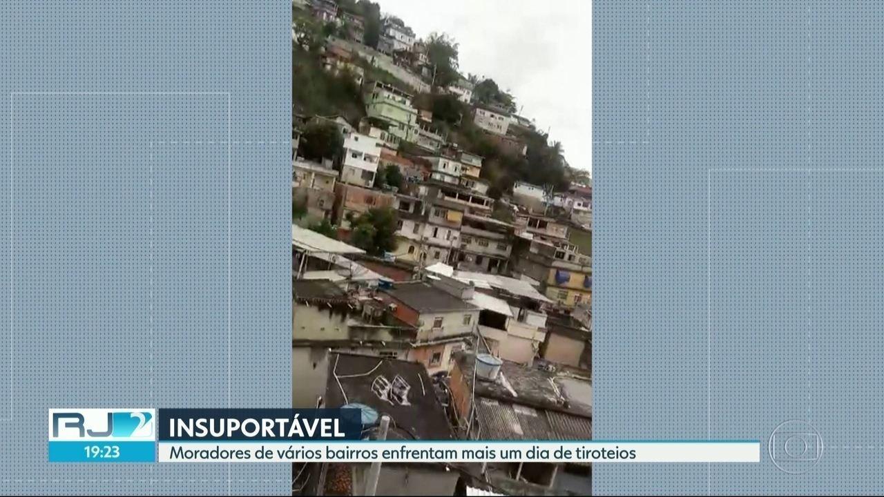 Tiroteios intensos assustam moradores em vários bairros do Rio